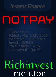 ссылка на мониторинг http://richinvestmonitor.com/?a=details&lid=17664