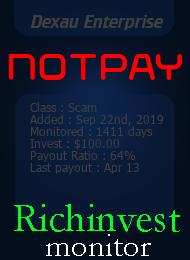 ссылка на мониторинг https://richinvestmonitor.com/?a=details&lid=84855