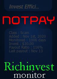 ссылка на мониторинг https://richinvestmonitor.com/?a=details&lid=95222
